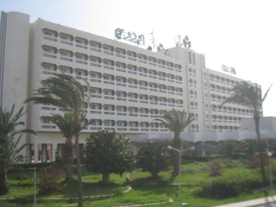 Benghazi, Libia: The (now famous) hotel where most of the TV channels were based