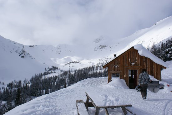 Toby Creek Adventures Ltd.: A nice warm cabin at the top of the trail with hot drinks and lunch