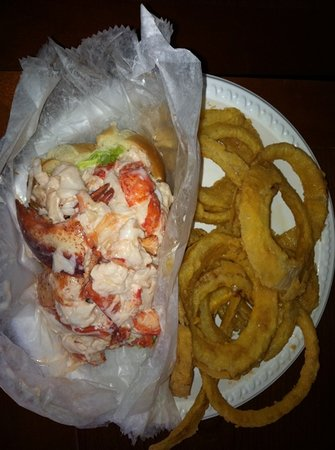 Winthrop, MA: lobster roll with onion rings