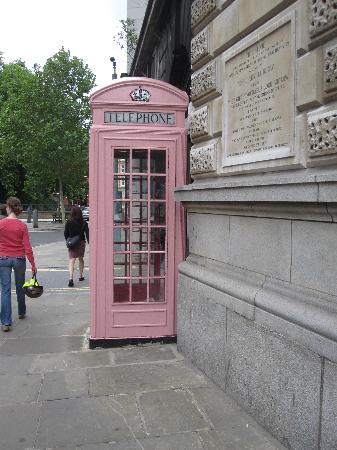 London, UK: Pink Phone Box