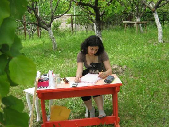 Three Jugs: teaching how to paint on batik