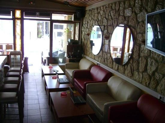 Online Internet Cafe & Bar : Looking Outside