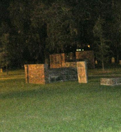 Sorrel Weed House: Two ghost figures in graveyard