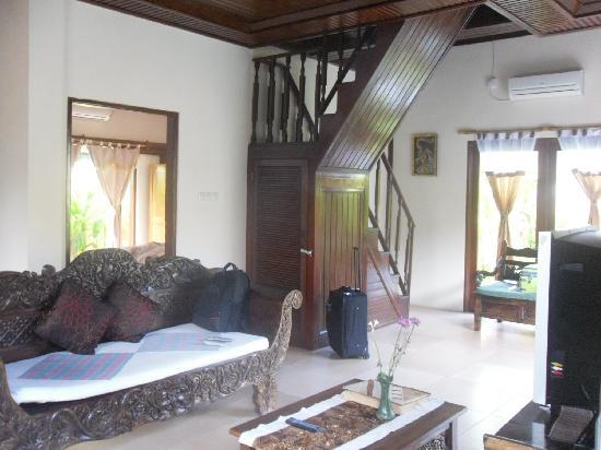 Tirtarum Villas, Canggu Bali: Living area