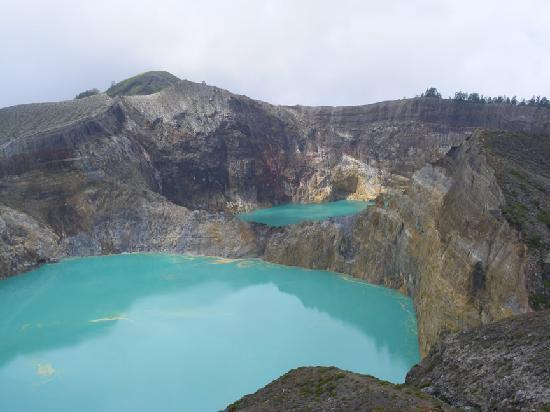 amazing coloured lakes