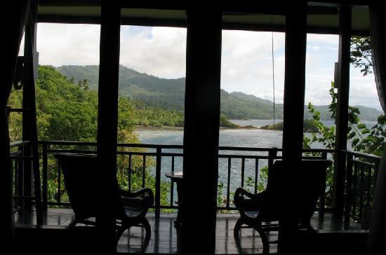 Lembeh Resort: Aussicht vom Bungalow