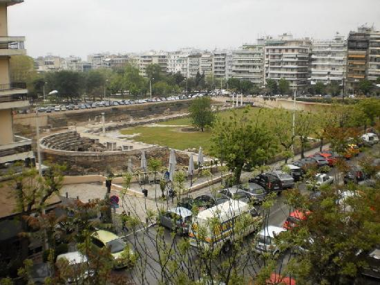 Hotel Orestias Kastorias: View of Roman Forum from our balcony