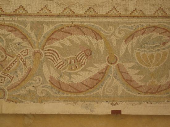 Queen Ayola Hotel: Mosaic iamges found in Madaba