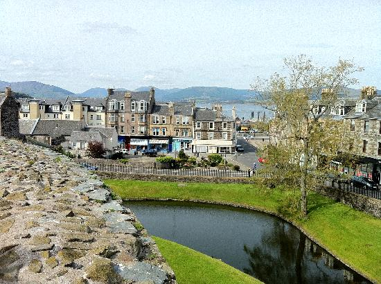 Rothesay Castle: view of the town... gorgeous!