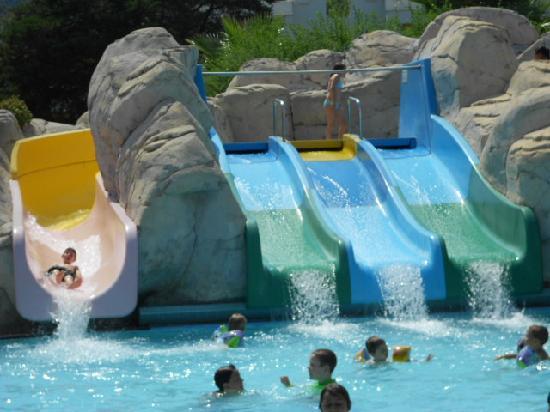 Club Med Palmiye: Les toboggans de la piscine du mini-club