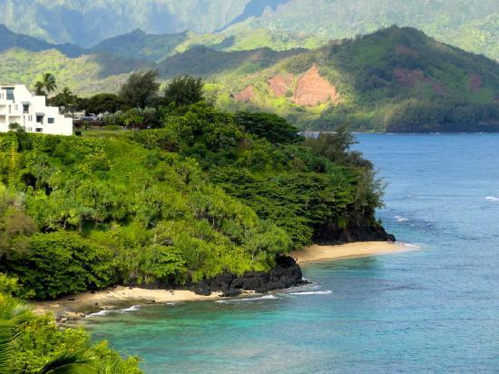 Marc at Princeville Pali Ke Kua: View beach ( paved path from Pali Ke  Kua )