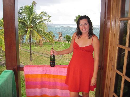 Baracoa, Kuba: On our balcony