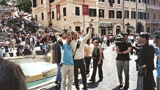 Italy Rome Tour: at the spanish steps with a chinese journalist