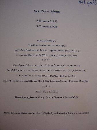 La Font del Gall: The menu of the night