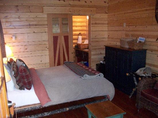 Cathedral Mountain Lodge: Blick in den Raum von der Tür aus