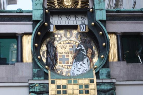 Anker Clock: Hoher Markt clock strikes noon