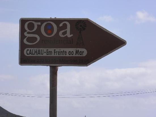 Residencial Goa: Suivez le panneau