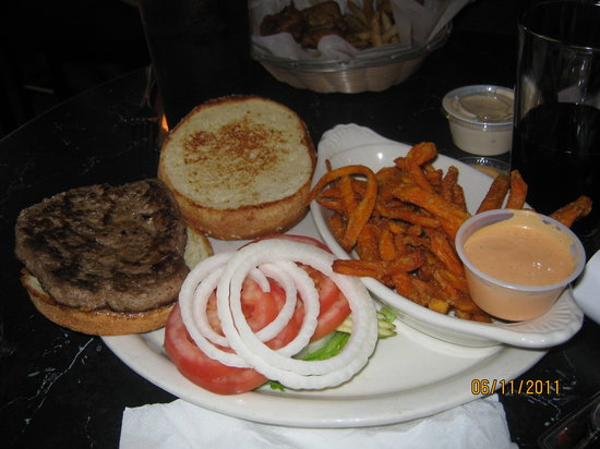 Montana Brewing Company: burger w/ sweet potato fries