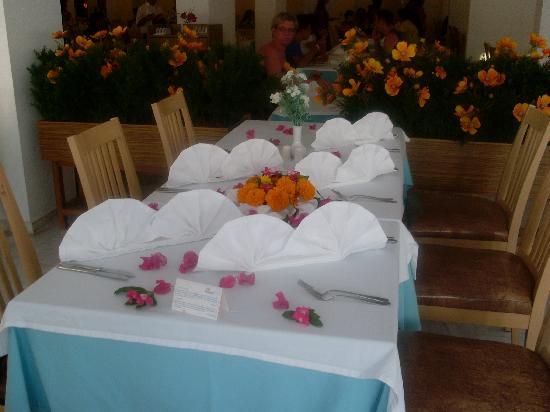 Febeach Hotel Side: une belle table pour le dernier diner