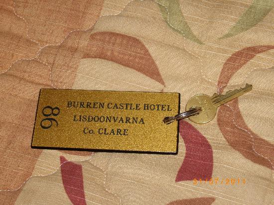 The Burren Castle Hotel: Keys to room 86