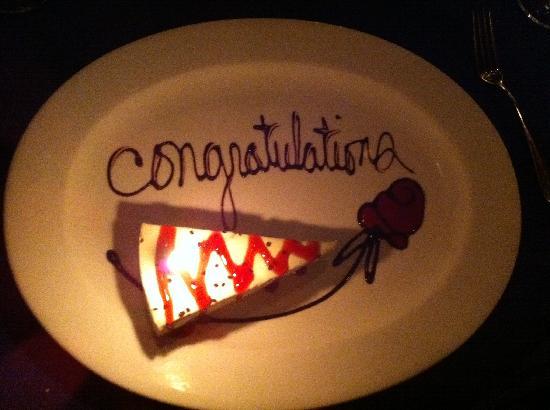 Hugo's Cellar: Anniversary Dessert