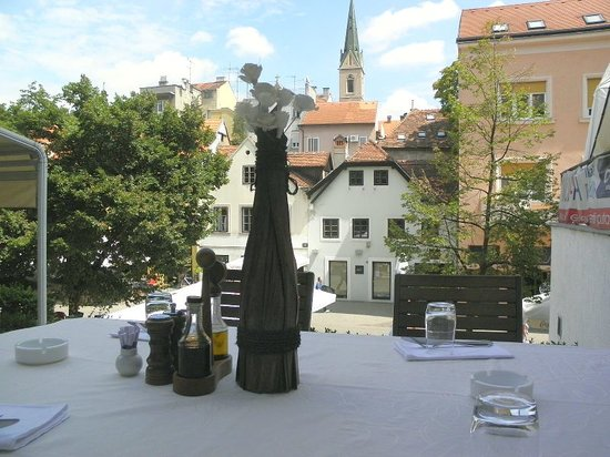 View on Cathedral over AGAVA table