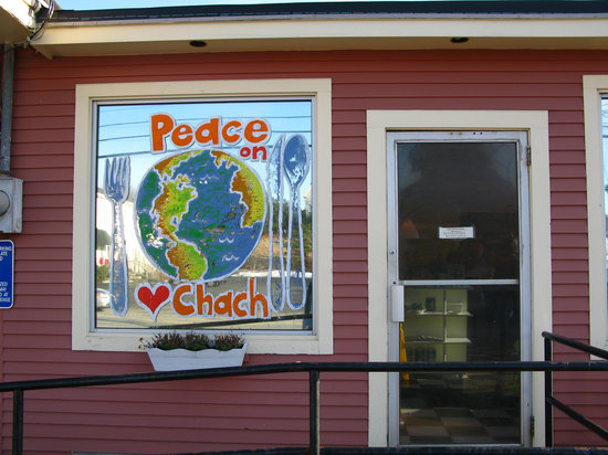 Chach: Outside view from parking space
