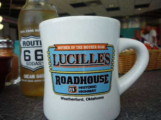 Lucille's Roadhouse: We bought the mug and took the bottle.