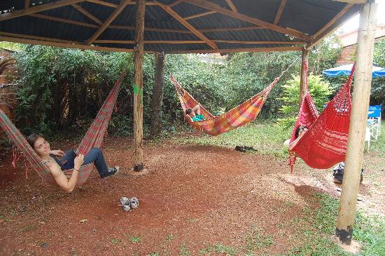 Pop Hostel Natura: Hammock area!