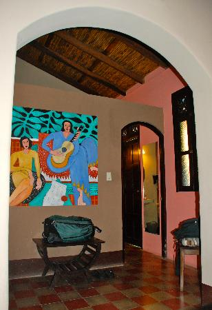 Casa Silas B & B: Our room extremely spacious, cute & clean with AC. Bedroom, dressing area and bathroom en suite