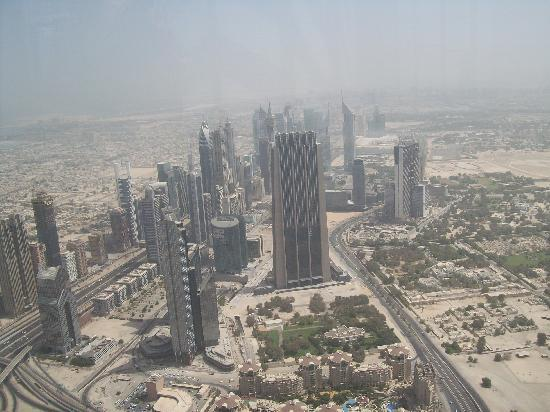 Golden Sands Hotel Apartments: from the top of the Burj Khalifa