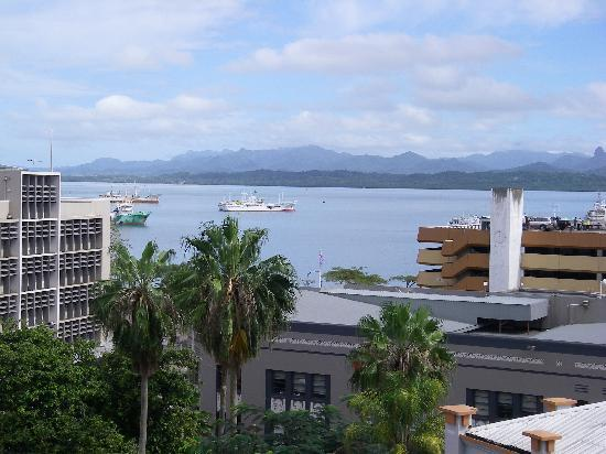 Quest Apartments-Suva: View from my balcony