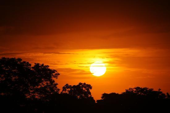 Hotel Luna Azul: Einer der Sonnenuntergänge