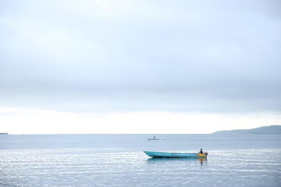 Maluku Islands, Indonesia: View from the haven at Tulehu, Ambon Island