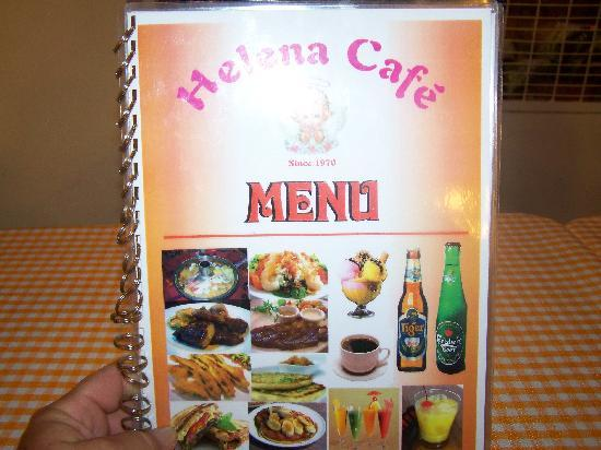 Helena's Cafe: the menu