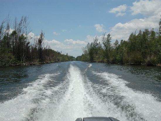Guama, Cuba: on boat