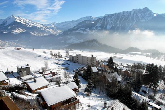 Hotel Le Grand Chalet : la vue en hivers