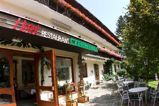 Czerwenka Hotel: The hotel offers a huge outdoor sitting area, and most rooms have large balconies. The flowers a