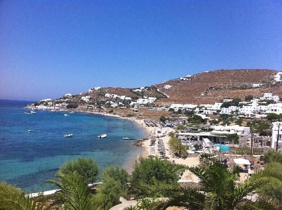 ‪‪Mykonos Grand Hotel & Resort‬: Beach area‬