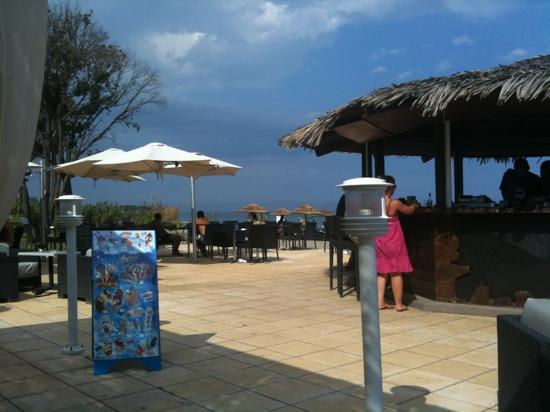 Santa Lucia di Moriani, France : brises de mer. from restaurant towards sea