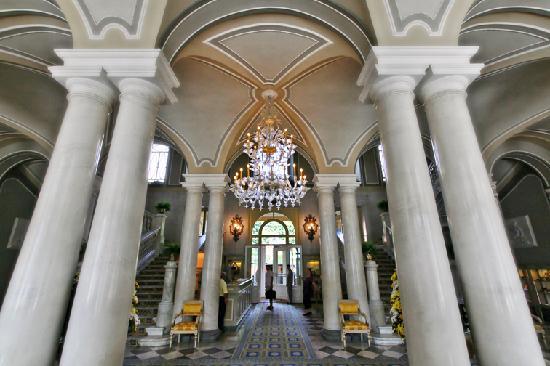 Cernobbio, อิตาลี: Detail aus der Eingangshalle