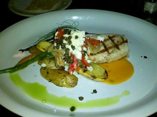 Atlantica: Grilled swordfish w/ local veggies