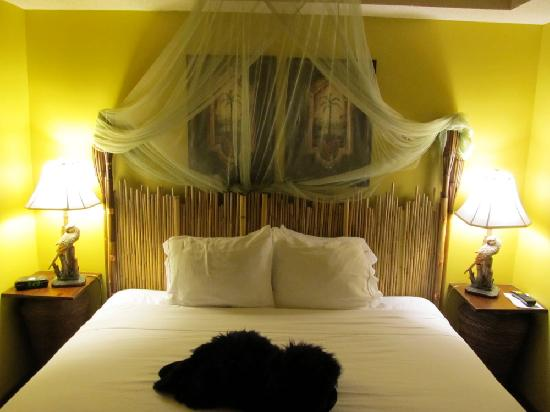 Holiday Inn Express & Suites - Saint John: jungle themed room -adult bedroom