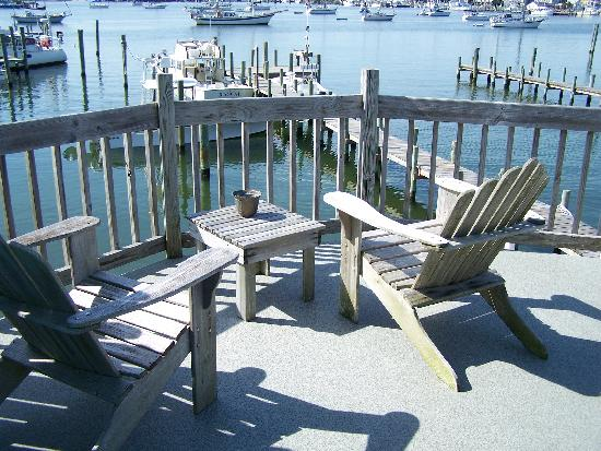 Ocracoke Harbor Inn: view from the room over the office,
