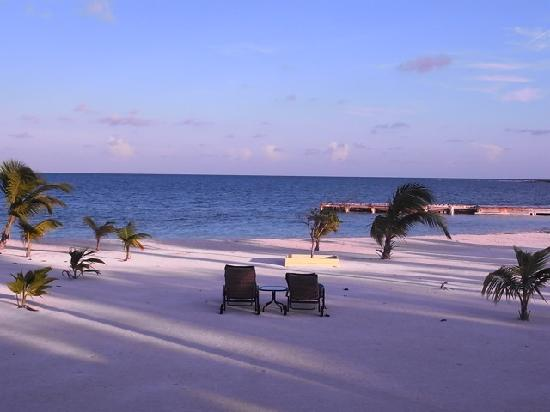 Turneffe Island Resort: Our private portion of the beach