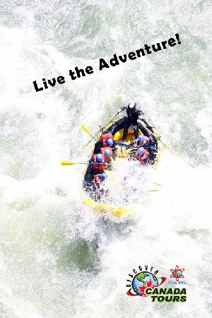 Discover Canada Tours: White water rafting! So much fun!