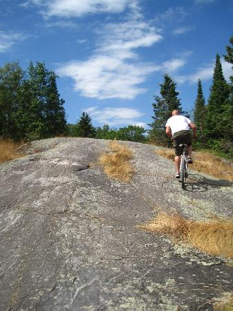 Wilderness Edge - Retreat & Conference Centre: Bike riding on the Canadian Shield
