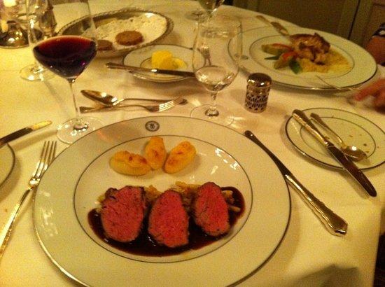 Restaurant Sèvres im Grandhotel Hessischer Hof: Main course
