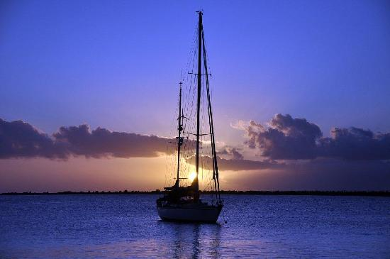 Blachi Koko Apartments Bonaire: Sunset on the waterfront