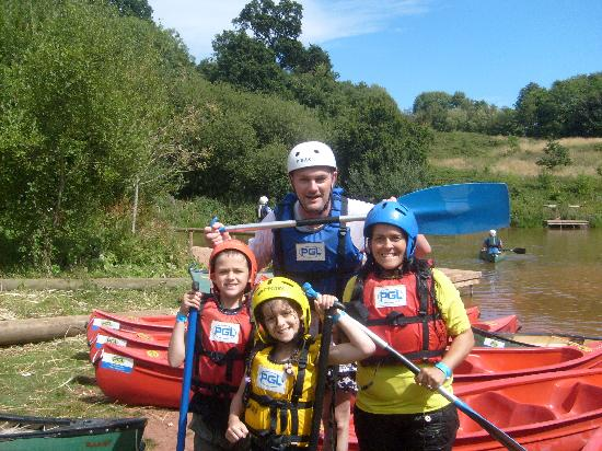 PGL Barton Hall: After our 'Raft Building' challange!!